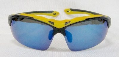 "sport sunglass, ""Matte-Black"" color frame, TAC lenses with ""Blue"" color ""Silver"" coating"