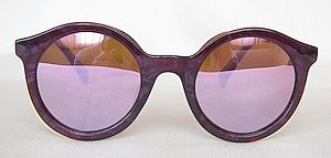 """round sunglass, UV400 PC lenses with """"Grey"""" color """"Light-silver"""", Frame with """"Custom-made"""" color"""