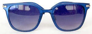 Wayfarer sunglasses, UV400 Blue silver eccentric lenses