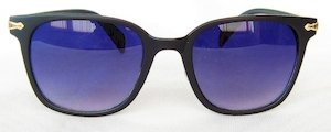 Wayfarer sunglasses, Blue silver eccentric lenses