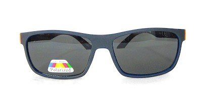 "square sunglass, with ""Matte-Black"" color, TAC Polarized lenses, Metal Temple with "" Matte - Black"" color"