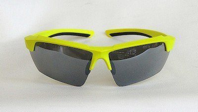 sport sunglass, UV400, PC eccentric lenses with Light Silver coating