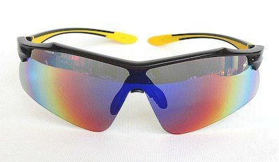 sunglasses, UV400, Purple color REVO coating, Matte - Black color frame