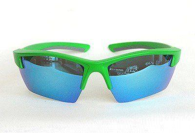 """sunglasses, UV400, """"REVO"""" coating, PC eccentric lenses, """"Matte green"""" color."""
