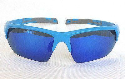 sport sunglass, Sand Blue frame, UV400 PC lenses with Blue color REVO coating