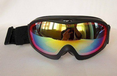 Matte TPU goggles, double lens REVO coated, double PU foam, Nylon strap