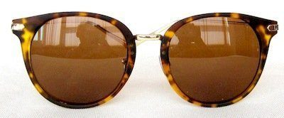 """round sunglass, PC eccentric lenses """"Light- silver"""" coating, Frame """"Tortoise-shell """" color"""