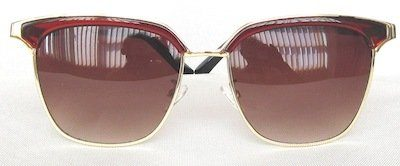 "square sunglass, PC eccentric with ""Gradient - Brown"" color lenses,"