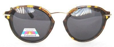 """square sunglass, with """"Tortoise-shell"""" color, TAC Polarized lenses, Metal Temple with """" Golden"""" color"""