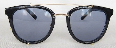 round sunglass, TAC lenses, Shining-Black color painting, Metal Temple