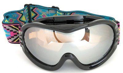 Ski TPU goggles, double lens Mirror coatied, PU foam, Jacquard strap