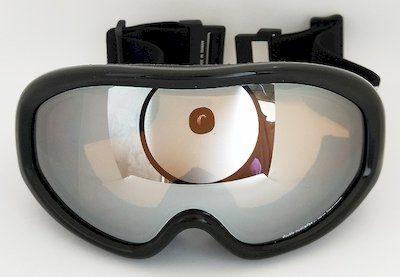 ski goggles, motorcycle goggles, Mirror lens, PU foam., Nylon strap
