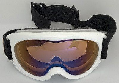 White goggles, TPU frame, Mirror lens, double PU foam