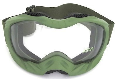 Army Green TPU goggles, UV400 lens, double PU Foam