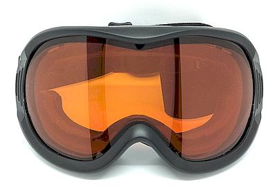 Matte Black goggles, PU frame, Anti-fog lens, PU Foam