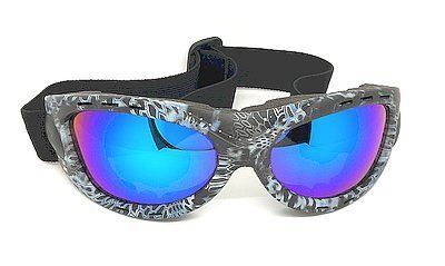 Water Blue Ridding goggles, Mirror Anti fog lens