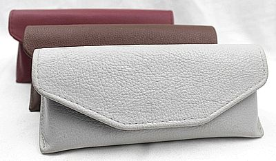 emboss leather glasses case, eyeglass case, leather sunglasses case