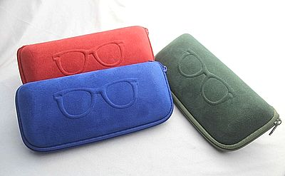 velvet eyeglass case, glasses case, velvet sunglasses case
