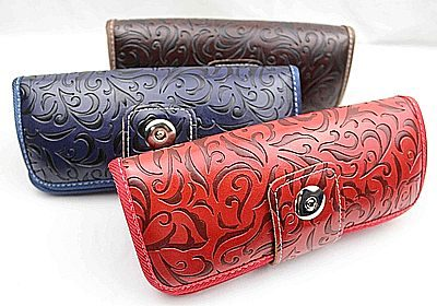 leather glasses case, eyeglass case, sunglasses case