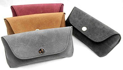 Embossed leather sunglasses case, eyeglasses case