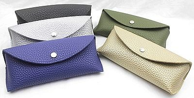 PU glasses case, leather eyeglass case, embossed leather glasses case