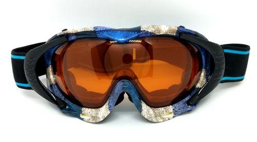 Ski goggles, double lenses, two layer PU foam.