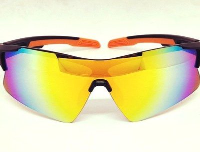 One piece orange REVO lens sunglasses