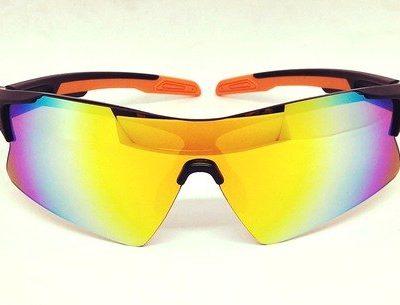 One piece orange REVO lens sunglasses