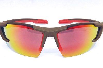 Brown elastic paint sunglasses, REVO lenses