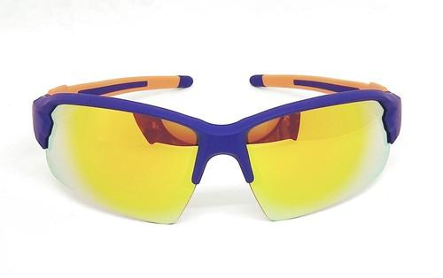 Purple Blue Elastic paint sunglasses