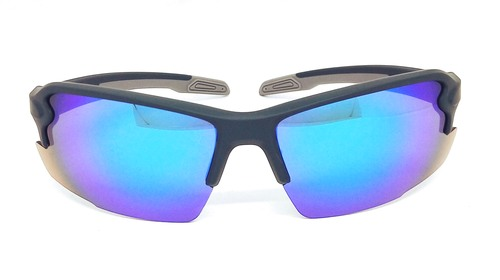 sport sunglasses, Green Elastic paint frame, Green REVO eccentric lens