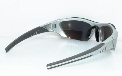 CG-PS-743-3one piece lenses fashion SunglassesBlack adjustable Nose pad and Dark grey color tip