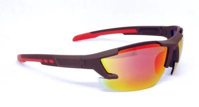 Brown elastic paint sport sunglasses, REVO lens, CG-W659-1
