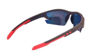 UV400 Black Red REVO PC lens sport sunglasses, CG-W659-1