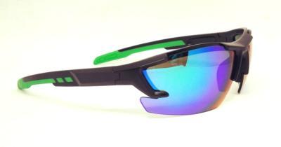 Matte Black sport sunglasses, REVO eccentric lens, CG-W659-2-2