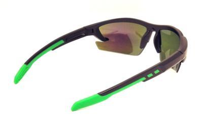 Polycarbonate sport sunglasses, Green Tips, CG-W659-2-3