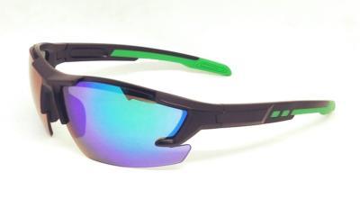 UV400 Green REVO sport sunglasses,CG-W659-2-4