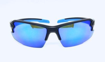 Matte black sport sunglasses, CG-W660-1-1