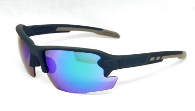 sport sunglasses, Green Elastic paint frame, Green REVO eccentric lens, CG-W660-2-4