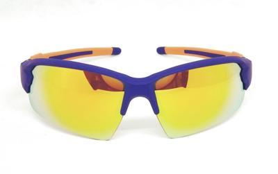 Purple Blue Elastic paint Sport sunglasses CG-W661-2