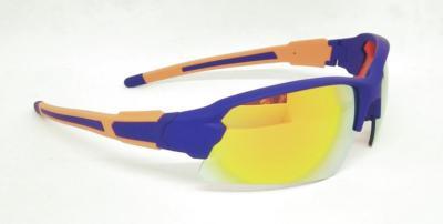 Orange color REVO lens Sport sunglasses Purple Blue Elastic paint frame CG-W661-2