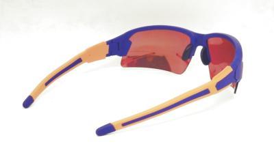 Purple Blue Elastic paint frame Two Tone Tips sunglasses CG-W661-2