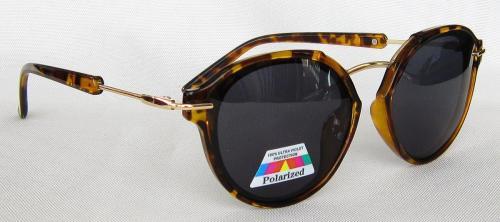 TAC Polarized lenses round sunglasses CG58-1-2