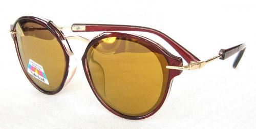 round sunglasses TAC Polarized lenses Metal temple  CG58-4