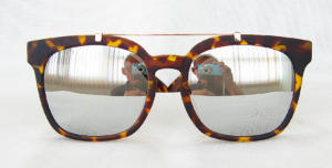 Tortoise shell painting Square sunglasses CG84-1-1