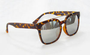 eccentric Light Silver lenses Tortoise shell painting Square sunglasses CG84-1-2