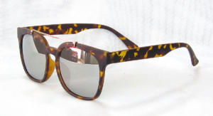 Square sunglasses, Tortoise shell painting, eccentric Light Silver lenses CG84-1-4